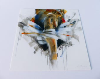 female body and paint square card