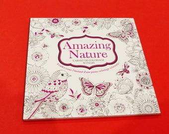 50 nature amazing adult coloring book animals birds butterflies