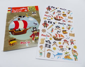 Child album 1 album Kit + 2 boards from 60 decal stickers pirate sticker