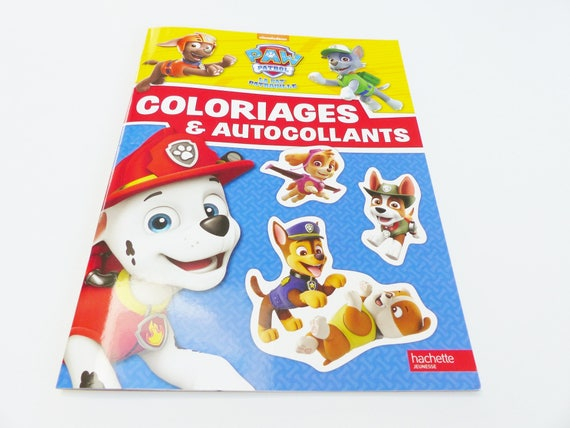 pat patrouille livre de coloriage et autocollant paw patrol. Black Bedroom Furniture Sets. Home Design Ideas