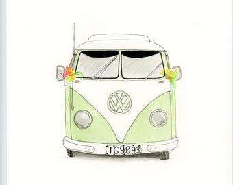 VW camper van painting