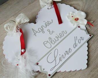 heart shaped wedding guestbook