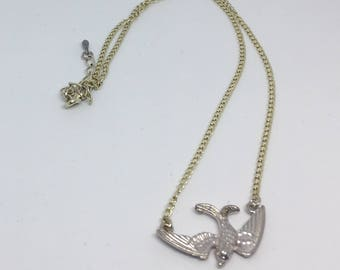 Swallow Bird Necklace Silver Plated Handmade