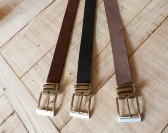 Belt brown leather or brown aged or black width 35mm