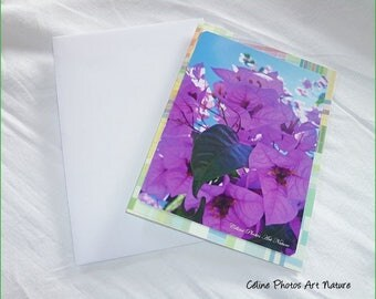 "Double 10 5x15cm made from a photo of bougainvillea flowers ""Bougainvillea fragrance"""