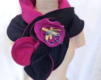 scarf collar swirl