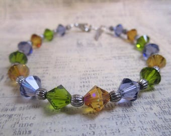 bicone birthday bracelet