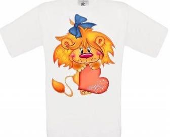 CHILD baby print LION t-shirt