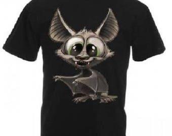 Black bat t-shirt