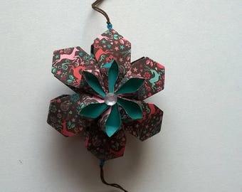 Modular Kusudama Origami mobile