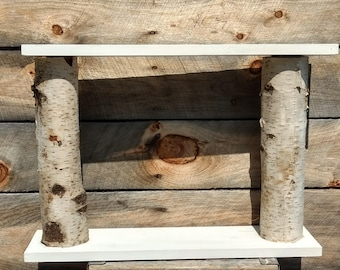 Birch Log Shelf