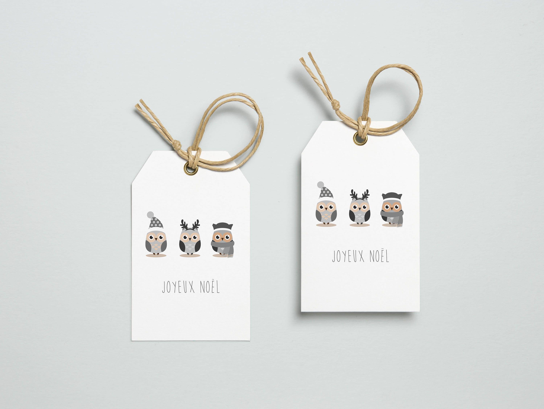 etiquette cadeau no l hibou chouette hiver planche de vignettes joyeux no l offrir pour les. Black Bedroom Furniture Sets. Home Design Ideas