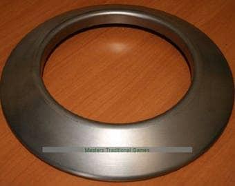 Pair steel quoits 5 1/4lb (2.4Kg each quoit)