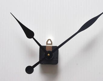 large PEAR needles 17 + clock movement mechanism / 23cm DIY