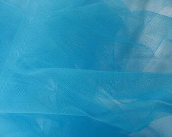 Tulle semi-rigide Bleu Turquoise par 10 cm