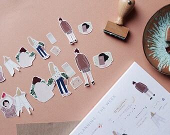 Mixed Girls - Sticker Set (Transparent)
