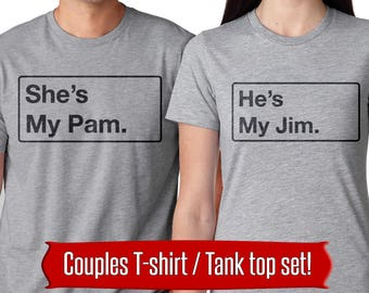 the office tv show t shirt couples shirts jim halpert pam beesly couple shirt funny the office shirts michael scott dwight shrute shirts