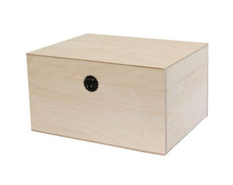 Jewellety Box For Bracelets, Necklaces, Earings- Wooden Box/Chest For Jewelry Storage- Wood Container- Decoupage Box