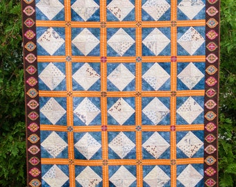 Squares and Diamonds - Machine Quilted Quilt