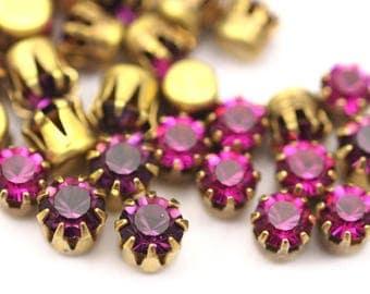 swarovski crystal rhinestone, Pearl flower Crystal swarovski cabochon set 4.5 mm