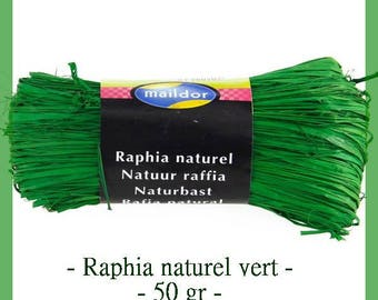 Natural raffia green 50 g