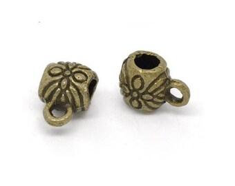 set of 2 bails metal bronze