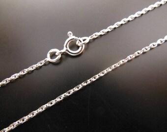 Silver mesh chain 46cm