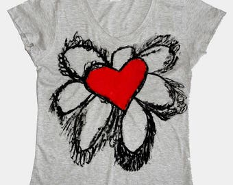 T-shirt women big love