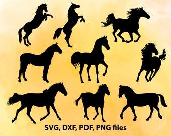 Horse SVG File, Horse DXF, Horse Cut File, Horse PNG, Horse Cricut, Horse Silhouette, Horse Vector art, Horse studio, Horse Cutting, Horses