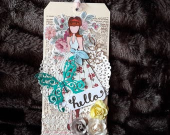 Hand made tag decoration