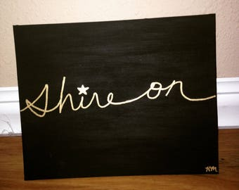 Shine On Painting, Canvas Panel Painting
