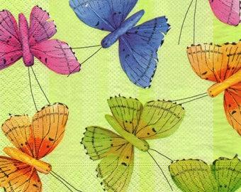 Origami BUTTERFLIES COLORES towel 534