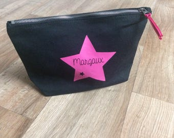 Personalized toiletry bag surname