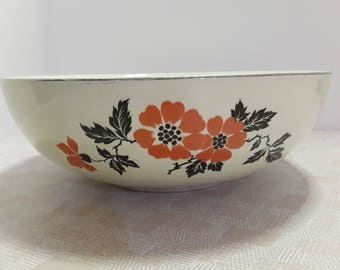 Hall Red Poppy Salad Serving Bowl, 9 inch