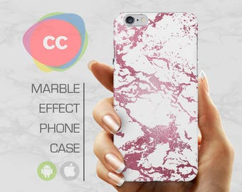 Purple White Marble - iPhone 8 Case - iPhone 7 Case - iPhone X, iPhone 8 Plus, 7, 6, 6S, 5S, SE Cases - Samsung S8, S7, S6 Cases - PC-353