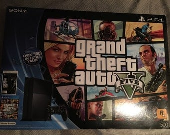 Sony PS4 GTA V & The Last of Us ft 2 Game Box Slip Cover over 500GB PS4 Box NTSC-U/C only