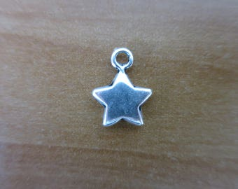 Antique Silver Star charm