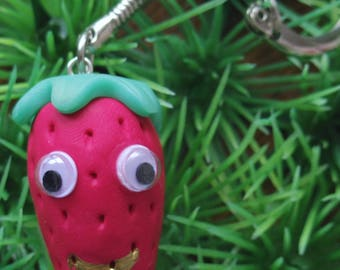 Door keys/funny Strawberry bag charm