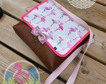 Bag flap BDJ Flamingo Pink bow purse