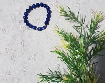 Raw Lapis Lazuli Bracelet: Lapis Lazuli; Mala