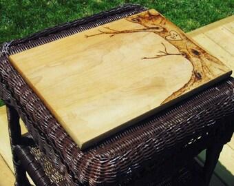 Rustic Wood Burned Love Tree