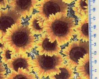 Flower fabric: SUNFLOWERS (coupon 55 x 25 cm) 100% Cotton Patch
