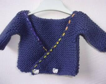 Life jacket baby soft yarn in Navy