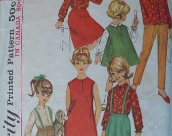 Girls Dress, Jumper, Blouse, Skirt, Pants Pattern, Vintage Simplicity 5604, Size 4 - CoPA Pattern circa 1960