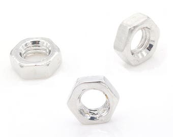 x 3 spacer beads 9 mm silver plated.
