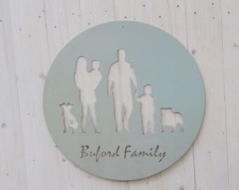 Customized Family Silhouette