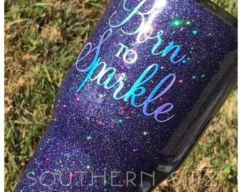 Glitter Bling Custom Tumbler 30oz