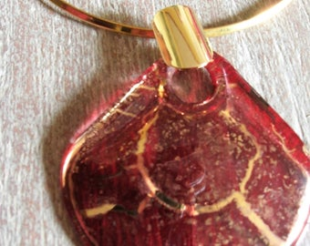 Red blown glass necklace