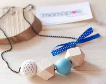 SIMPLE cotton wood necklace silicone