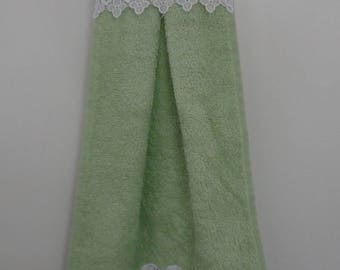 Terry and cotton hand towel or guest towel